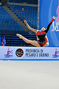 Chaboud Ambre-during qualifying at clubs in Pesaro World Cup at Adriatic Arena on April 27, 2013. Lucille is a French individual rhythmic gymnast was born on 1997 in Bourgoin Jallieu, France.