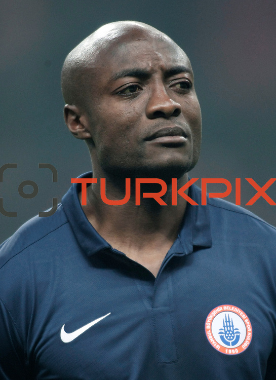 IBBSpor's Pierre Achille Webo Kouamo during their Turkish Super League soccer match Galatasaray between IBBSpor at the TT Arena at Seyrantepe in Istanbul Turkey on Tuesday, 03 January 2012. Photo by TURKPIX