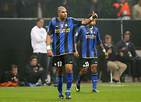 """ESULTANZA ADRIANO DOPO IL GOL<br /> Milano 22/10/2008 Stadio """"Giuseppe Meazza"""" <br /> Champions League 2008/2009<br /> Inter-Anorthosis<br /> Foto Luca Pagliaricci Insidefoto"""