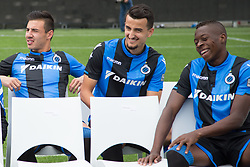 July 16, 2017 - Brugge, BELGIUM - Club's Dion Cools, Club's Erhan Masovic and Club's Helibelton Palacios pictured during the fan day of Belgian first division soccer team Club Brugge KV, Sunday 16 July 2017 in Brugge. BELGA PHOTO BRUNO FAHY (Credit Image: © Bruno Fahy/Belga via ZUMA Press)
