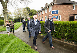 Labour leader Jeremy Corbyn canvassing in Grimsby ahead of the local elections.
