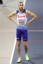 Great Britain's Joe Reid (right) during the Men's 800m Semi Final during day two of the European Indoor Athletics Championships at the Emirates Arena, Glasgow.