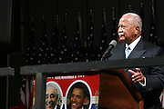 The Honorable David N. Dinkins at the Pre-Election party hosted by Congressman Charles Rangel held on the grounds of The Adam Clayton Powell State Office Building in Harlem on Election night, November 4, 2008..Democratic Presidential Candidate Barack Obama is declared victor and President-Elect as the 44th U.S. President making him the first African-American President in its 225 year history.
