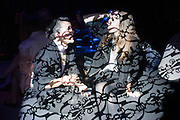ARABEL LEBRUSAN; MARTHA LOUBET, Party to celebrate the opening of Marina Abramovi<br /> ARABEL LEBRUSAN; MARTHA LOUBET, Party to celebrate the opening of Marina Abramovi?'s first solo show at the Lisson Gallery, The Studio, Kingdom Street, London. 12 October 2010. DO NOT ARCHIVE-© Copyright Photograph by Dafydd Jones. 248 Clapham Rd. London SW9 0PZ. Tel 0207 820 0771. www.dafjones.com.