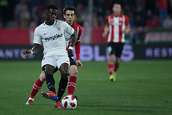 January 16, 2019 - Sevilla, Andalucia, Spain - Quincy Promes of Sevilla FC kick the ball during the Copa del Rey match between Sevilla FC v Athletic Club at the Ramon Sanchez Pizjuan Stadium on January 16, 2019 in Sevilla, Spain (Photo by Javier Montaño/Pacific Press) (Credit Image: © Javier MontañO/Pacific Press via ZUMA Wire)