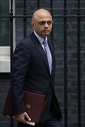 Downing Street, London, July 5th 2016. State for Business Secretary Sajid Javid leaves 10 Downing Street following the weekly cabinet meeting.