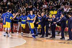 November 1, 2018 - Barcelona, Barcelona, Spain - Maccabi Fox Tel Aviv in actions during EuroLeague match between FC Barcelona Lassa and Maccabi Fox Tel Aviv  on November 01, 2018 at Palau Blaugrana, in Barcelona, Spain. (Credit Image: © AFP7 via ZUMA Wire)