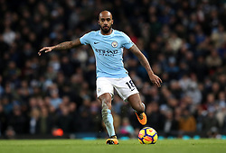 """Manchester City's Fabian Delph during the Premier League match at the Etihad Stadium, Manchester. PRESS ASSOCIATION Photo. Picture date: Sunday December 3, 2017. See PA story SOCCER Man City. Photo credit should read: Martin Rickett/PA Wire. RESTRICTIONS: EDITORIAL USE ONLY No use with unauthorised audio, video, data, fixture lists, club/league logos or """"live"""" services. Online in-match use limited to 75 images, no video emulation. No use in betting, games or single club/league/player publications."""