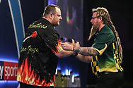 Ryan Joyce beats Simon Whitlock in their second round match during the World Darts Championships 2018 at Alexandra Palace, London, United Kingdom on 19 December 2018.