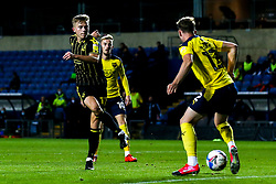 James Daly of Bristol Rovers shoots at goal - Mandatory by-line: Robbie Stephenson/JMP - 06/10/2020 - FOOTBALL - Kassam Stadium - Oxford, England - Oxford United v Bristol Rovers - Leasing.com Trophy