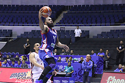 September 17, 2018 - Quezon City, NCR, Philippines - Stanley Pringle (Blue) of the Philippines breaks away for an open lay-up. (Credit Image: © Dennis Jerome S. Acosta/Pacific Press via ZUMA Wire)