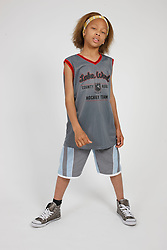 Portrait of boy in sports clothes