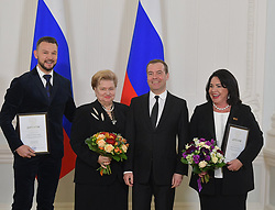 March 21, 2019 - Dmitry Medvedev awarded the winners of the government prize in the field of culture. In 2018 they were 20 people representing different spheres of art - theater, painting, literature, music and architecture  Russian Government via globallookpress.com (Credit Image: © Russian Look via ZUMA Wire)