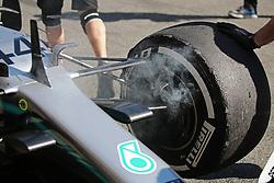 February 26, 2019 - Barcelona, Catalonia, Spain - the Mercedes of Lewis Hamilton during the Formula 1 test in Barcelona, on 26th February 2019, in Barcelona, Spain. (Credit Image: © Joan Valls/NurPhoto via ZUMA Press)