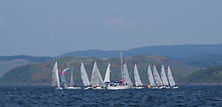 Sailing - SCOTLAND  - 27th May 2018<br /> <br /> 3rd days racing the Scottish Series 2018, organised by the  Clyde Cruising Club, with racing on Loch Fyne from 25th-28th May 2018<br /> Hunter 707 Fleet<br /> <br /> Credit : Marc Turner<br /> <br /> Event is supported by Helly Hansen, Luddon, Silvers Marine, Tunnocks, Hempel and Argyll & Bute Council along with Bowmore, The Botanist and The Botanist