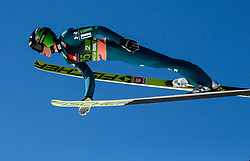 Peter Prevc (SLO) soaring through the air during the Ski Flying Hill Team Competition at Day 3 of FIS Ski Jumping World Cup Final 2019, on March 23, 2019 in Planica, Slovenia. Photo by Vid Ponikvar / Sportida