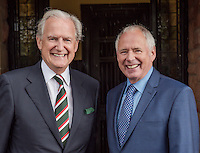 BBC & ITV Midlands News Anchor men Nick Owen & Bob Warman are re-united at Shrewsbury High Prep School 60 years after they both studied there together.<br /> <br /> The two former pupils meet outside the main door of the school.