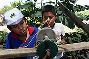 School children practice traditional village skills.<br /> Alianza Arkana has implemented a pilot program establishing an intercultural school in Puerto Firmeza, a Shipibo community near Pucallpa. The vision of the program is to create a truly intercultural education, interweaving Western education – critical for survival in a rapidly globalizing world – and traditional indigenous knowledge. <br /> With highly motivated teachers and a creative, student-focused curriculum, we aim to increase attendance at school, improve educational quality and relevance, strengthen cultural identity, and empower indigenous youth from an early age.