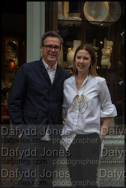 LOUISE OLSEN; STEVE ORMANDY, Dinosaur Designs launch of their first European store in London. 35 Gt. Windmill St. 18 September 2014