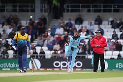 June 21, 2019 - Leeds, Yorkshire, United Kingdom - England's Adil Rashid bowling during the ICC Cricket World Cup 2019 match between England and Sri Lanka at Headingley Carnegie Stadium, Leeds on Friday 21st June 2019. (Credit Image: © Mi News/NurPhoto via ZUMA Press)