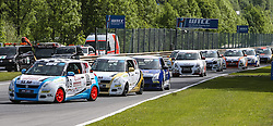 19.05.2013, Salzburgring, Salzburg, AUT, Suzuki Motorsport Cup Rennen 2, im Bild Martin Zellhofer fuehrt Kolonne an // during the Suzuki Motorsport Cup Austrian Race two, held at the Salburgring near Salzburg, Austria on 2013/05/19. EXPA Pictures © 2013, PhotoCredit: EXPA/ Roland Hackl