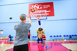 Mat Protheroe of Bristol Rugby takes part in the free throw competition at half time - Rogan/JMP - 13/10/2017 - BASKETBALL - SGS Wise Arena - Bristol, England. - Bristol Flyers v Cheshire Pheonix - BBL Cup.