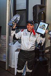 LONG BEACH, CA - APRIL 01 Actor Brett Davern celebrates after winning the Toyota PRO/Celebrity race. 2014 April 12. Byline, credit, TV usage, web usage or linkback must read SILVEXPHOTO.COM. Failure to byline correctly will incur double the agreed fee. Tel: +1 714 504 6870.