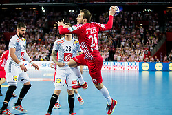 Manuel Strlek of Croatia during handball match between National teams of Croatia and France on Day 7 in Main Round of Men's EHF EURO 2018, on January 24, 2018 in Arena Zagreb, Zagreb, Croatia.  Photo by Vid Ponikvar / Sportida