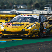 #66, Ferrari 488 GTE Evo,  JMW Motorsport, drivers: R. Heistand, M. Root, J. Magnussen, GTE Am, Le Mans 24H 2020, on 20/09/2020