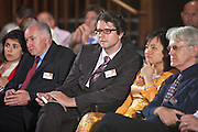 A question from the audience during the panel debate. Local solutions to climate change. The Ashden Awards Imperial College Conference, Royal Geographical Society, London.