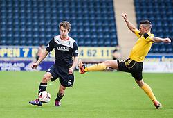 Falkirk's Will Vaulks and  Livingston Jason Talbot.<br /> Falkirk 1 v 1 Livingston, Scottish Championship game today at The Falkirk Stadium.<br /> © Michael Schofield.