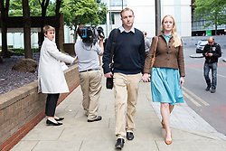 © Licensed to London News Pictures. 26/05/2015. London, UK. Former UBS and Citigroup trader Tom Hayes leaving Southwark Crown Court in London. Hayes appears charged with eight counts of conspiracy to defraud in relation to alleged manipulation and rigging of the Libor rate. Photo credit : Vickie Flores/LNP