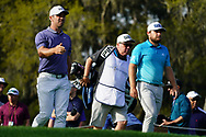 Paul Casey (ENG) and Tyrrell Hatton (ENG) during Round 1 of the Players Championship, TPC Sawgrass, Ponte Vedra Beach, Florida, USA. 12/03/2020<br /> Picture: Golffile | Fran Caffrey<br /> <br /> <br /> All photo usage must carry mandatory copyright credit (© Golffile | Fran Caffrey)