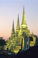 Twilight at Wat Phra Si Sanphet