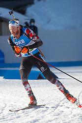 Eder Simon of Austria competes during the IBU World Championships Biathlon 15 km Mass start Men competition on February 21, 2021 in Pokljuka, Slovenia. Photo by Vid Ponikvar / Sportida