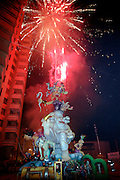 """las fallas festival in Valencia Spain. Las Fallas literally means """"the fires"""" in Valencian ..""""Ninots"""" are enormous chariacatures made of papier mache, wood and wax and placed around the city of Valencia. They are burnt on the night of St Joseph(19th March)known as """"La Crema"""""""