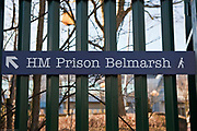 Entrance sign to HMP Belmarsh.