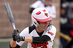 06 April 2013:  Elizabeth Kay during an NCAA Division 1 Missouri Valley Conference (MVC) women's softball game between the Drake Bulldogs and the Illinois State Redbirds on Marian Kneer Field in Normal IL