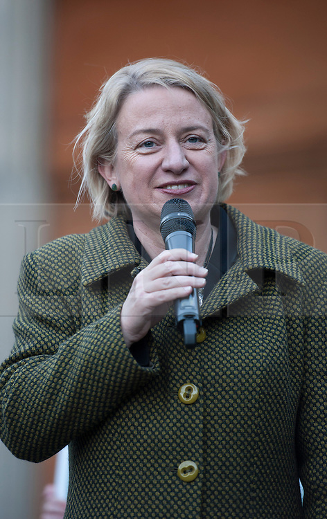 © Licensed to London News Pictures.  05/05/2015. Bristol, UK.  Picture of Natalie Bennett, leader of the Green Party at a Green Party rally at the Victoria Rooms in Bristol.  Author and Food Poverty Campaigner, Jack Monroe, comes to Bristol West to support Green Party PPC Darren Hall in one of the Green Party's key target constituencies. Monroe met Hall alongside Green Party Leader, Natalie Bennett, and other Green Party elected representatives including Jean Lambert MEP, Baroness Jenny Jones the Green Party Member for the London Assembly and Darren Johnson member of the London Assembly.  The event is seen as a chance for floating voters to come and ask questions of the Green Party Leadership, face to face, before polling day which is now just a little more than 24hrs away.  Photo credit : Simon Chapman/LNP