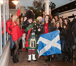 Miss Scotland Jennifer Reochs with a group of contestants at Crieff Hydro..MISS WORLD 2011 VISITS SCOTLAND..Pic © Michael Schofield.