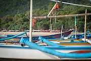 Boats on Red Island Beach, Red Island, Banyuwangi Regency, East Java, Indonesia, Southeast Asia