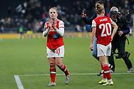 Kim Little claps the Arsenal fans after the FA Women's Super League match between Tottenham Hotspur Women and Arsenal Women FC at Tottenham Hotspur Stadium, London, United Kingdom on 17 November 2019.