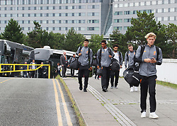 The Liverpool Football Team fly out of Manchester Airport to Hong Kong on Sunday morning.