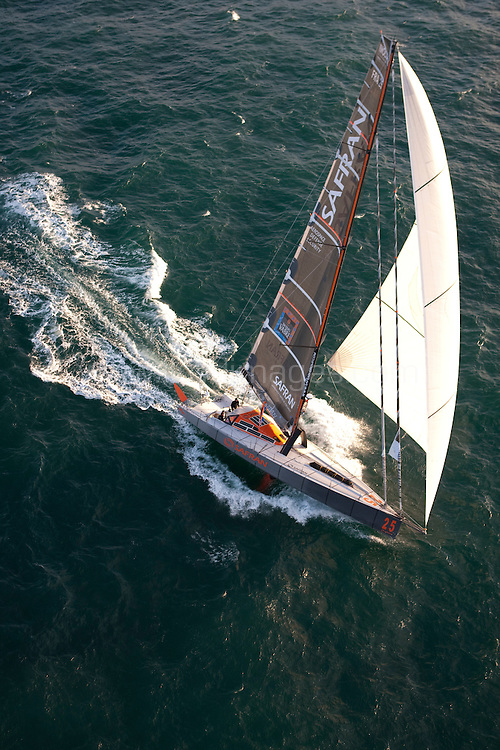 "8th November 2009. Transat Jacques Vabre Yacht Race.Le Havre. France. ..Pictures of the ""Safran"" IMOCA Open60 skipper Marc Guillemot (FRA) and co skipper Charles Caudrelier Benac (FRA) .Please credit ""Lloyd Images"""