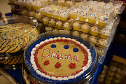 The Inauguration of President Barack Obama. Washington DC, January 20, 2009. Cakes and Pastries with Inauguration-themed messages.