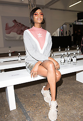 Jourdan Dunn attends 'Streets of EQT', a street style presentation to celebrate Hailey Baldwin's new Adidas EQT campaign during London Fashion Week SS18 held at The Old Truman Brewery, London. Picture Date: Friday 15 September. Photo credit should read: Isabel Infantes/PA Wire