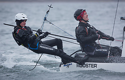 The annual RYA Youth National Championships is the UK's premier youth racing event. Day 3 with winds backing to the North the racing started on the Largs Channel.<br /> <br /> 070, Alex Hamel, Charlie Hamel, Weston Sailing Club, Nacra 15 Open <br /> <br /> Images: Marc Turner / RYA<br /> <br /> For further information contact:<br /> <br /> Richard Aspland, <br /> RYA Racing Communications Officer (on site)<br /> E: richard.aspland@rya.org.uk<br /> m: 07469 854599