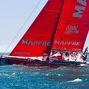 © Maria Muina I MAPFRE. Start of Leg 3 from Cape Town to Melbourne. Salida de la etapa 3 de Ciudad del Cabo a Melbourne.