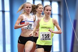 Julie Mathiesen (#149) foran Josefine Rytter (#20). Danske Mesterskaber indendørs i atletik 2017  i Spar Nord Arena, Skive, Denmark, 18.02.2017. Photo Credit: Allan Jensen/EVENTMEDIA.