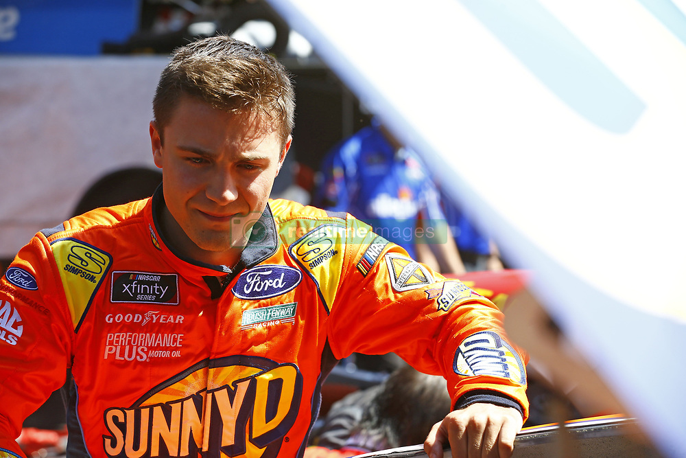 April 13, 2018 - Bristol, Tennessee, United States of America - April 13, 2018 - Bristol, Tennessee, USA: Ty Majeski (60) hangs out in the garage area before final practice for the Fitzgerald Glider Kits 300 at Bristol Motor Speedway in Bristol, Tennessee. (Credit Image: © Chris Owens Asp Inc/ASP via ZUMA Wire)